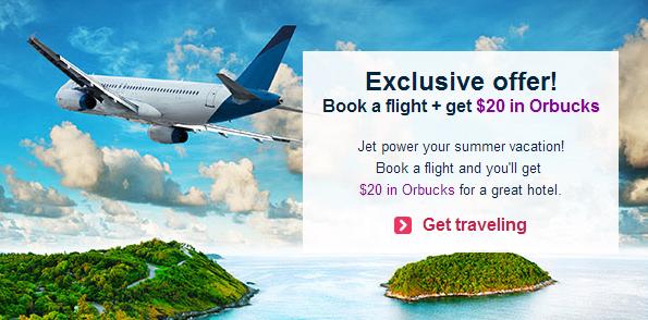 Orbitz $20 Orbucks Flight
