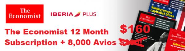 The Economist Iberia Plus 8000 Avios U