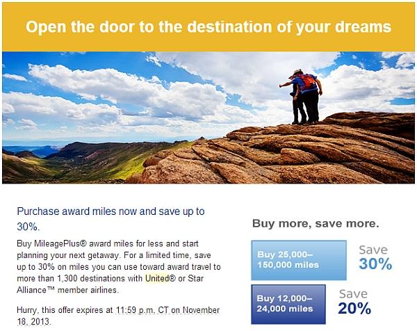 united-mileageplus-buy-miles-november-30-discount