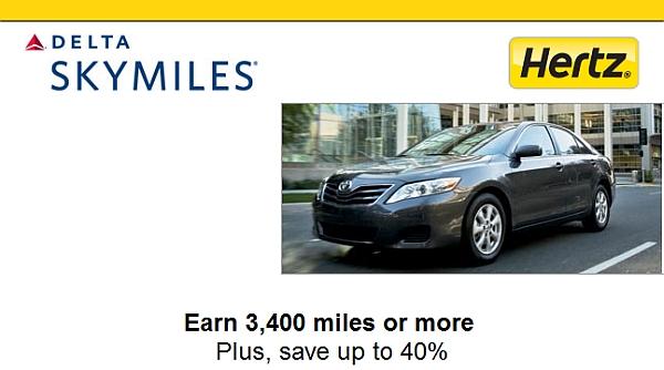 Use Delta Skymiles For Rental Car