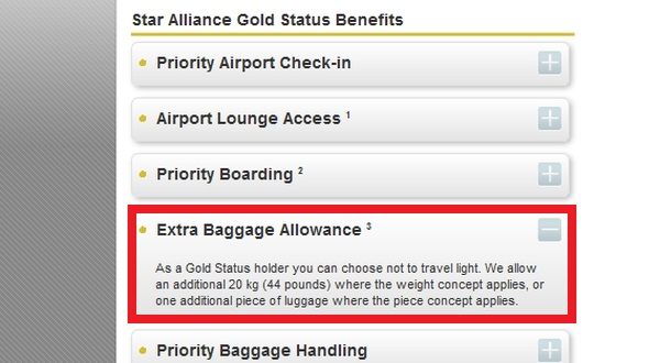 United Airlines Reduces Star Alliance Gold Checked Baggage