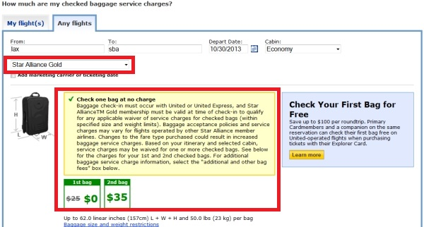 United Airlines Reduces Star Alliance Gold Checked Baggage ...