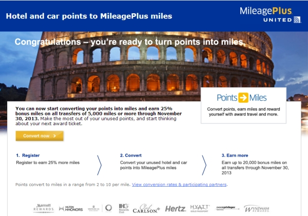united-mileageplus-hotel-car-points-conversion-bonus-fall-2013