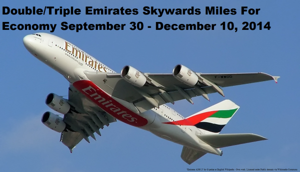 Emirates Skywards Double Miles Economy Offer
