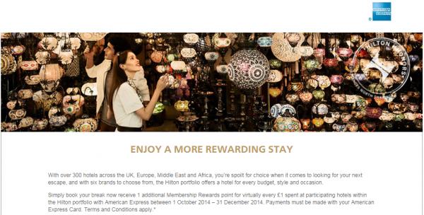 Hilton HHonors Amex American Express UK & Germany Promotion