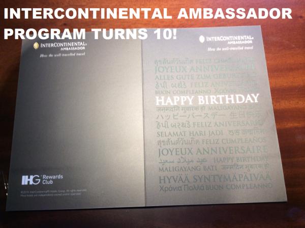 IHG Rewards Club Ambassador 10th Birthday Prize Promotion