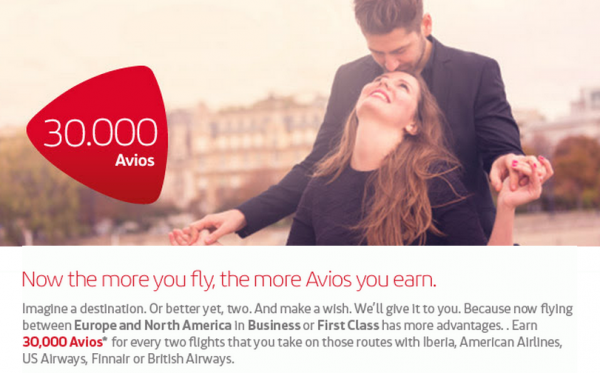 Iberia Plus Transatlantic Bonus Miles Offer Fall 2014