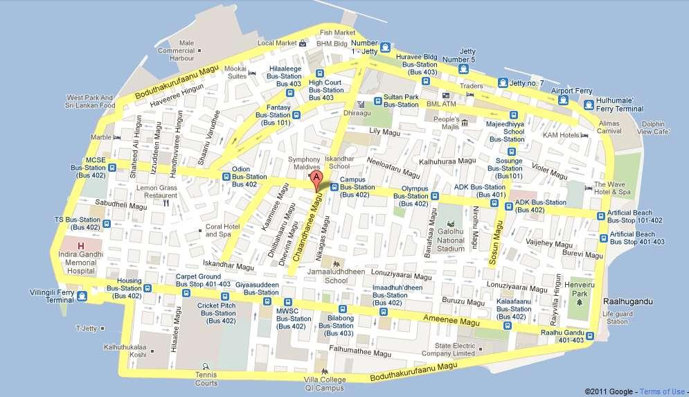 Male Maldives Cruise Port of Call Male Map
