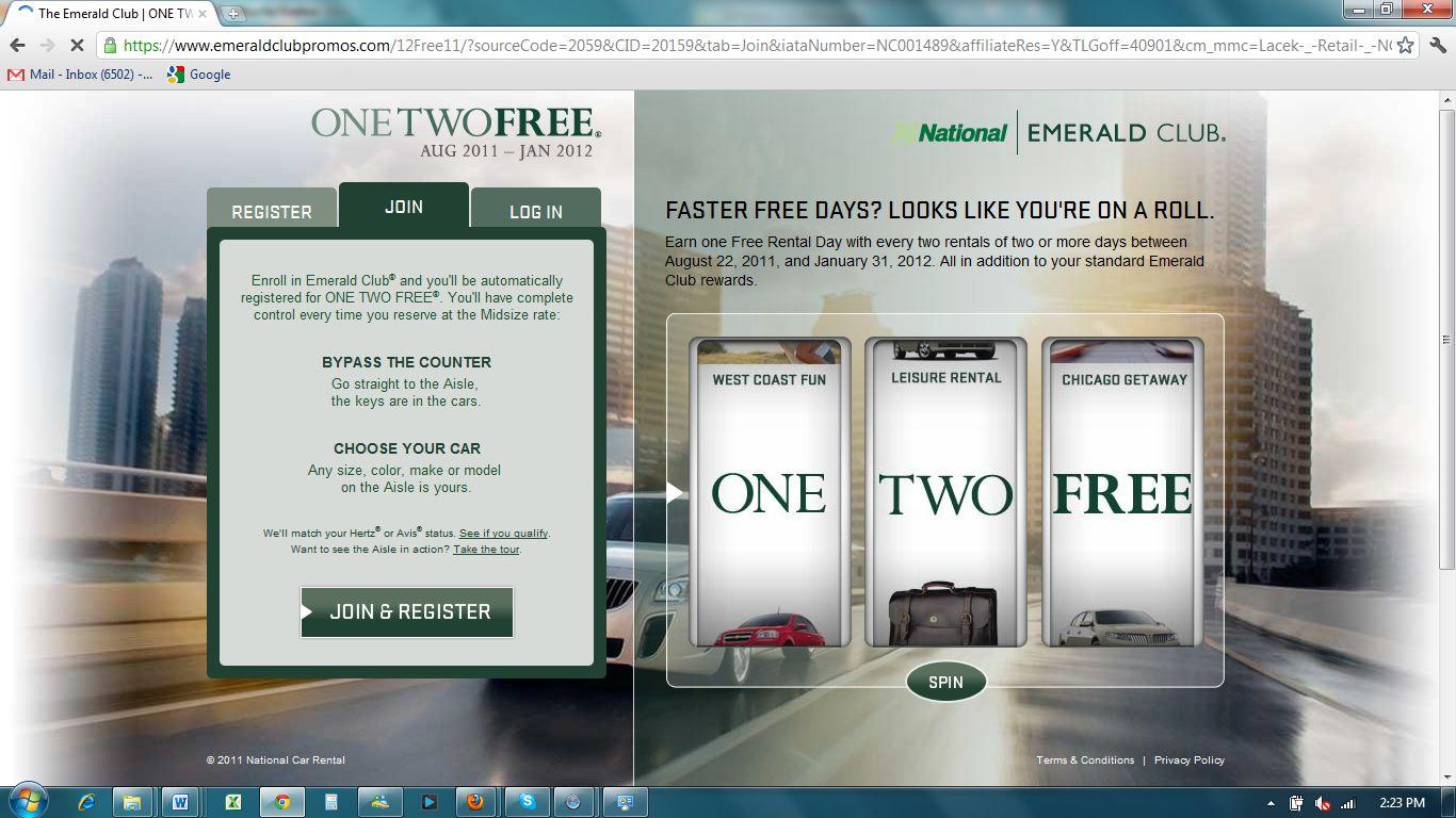 Emerald rental car coupons