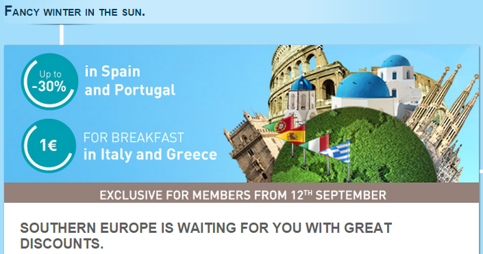 Accor Le Club Accorhotels Fancy Winter In the Sun Spain Portugal Italy Greece Fall 2014 Sale
