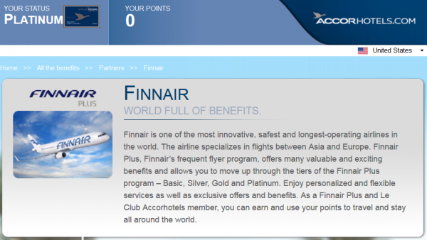 Accor Le Club Accorhotels Finnair Plus