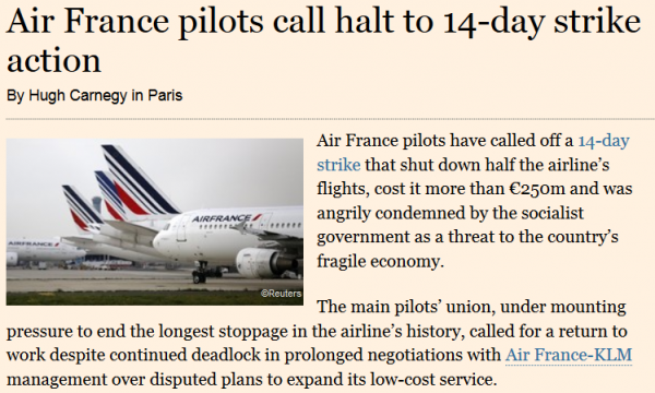 Air France Strike FT