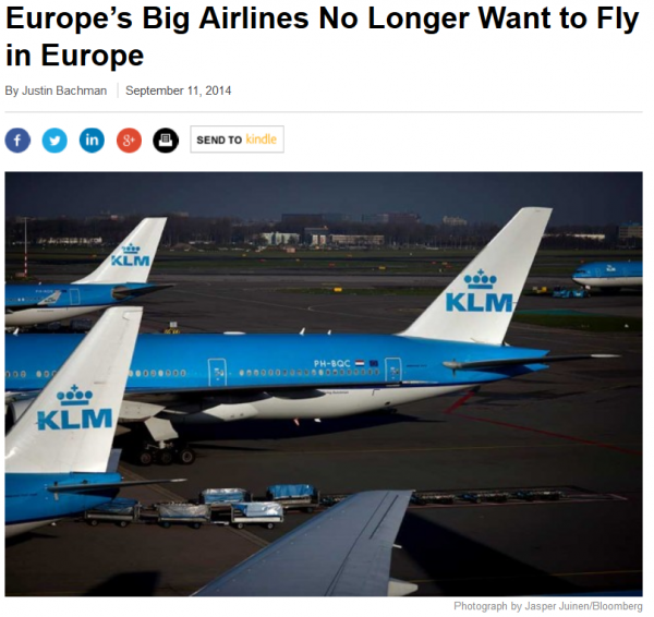 BloombergBusinessWeek Europe's Big Airlines No Longer Want to Fly in Europe