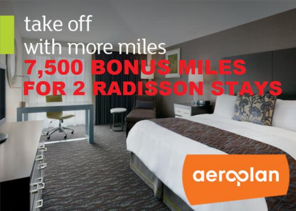 Club Carlson Radisson Aeroplan 7500 Bonus Miles Offer Fall 2014