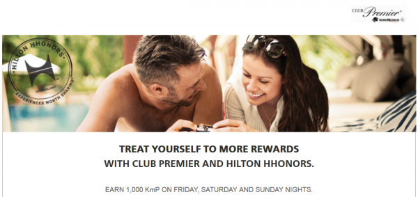 Hilton HHonors AeroMexico Club Premier Weekend Offer Fall 2014