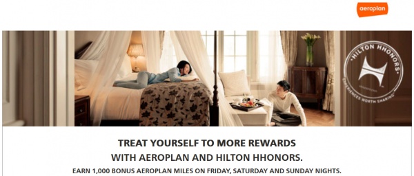 Hilton HHonors Air Canada Aeroplan