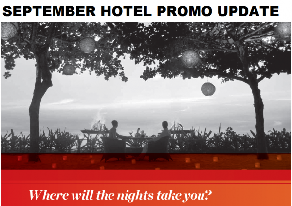Hotel Promotions Update September 2014