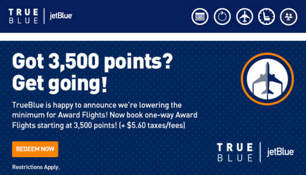 JetBlue TrueBlue Change