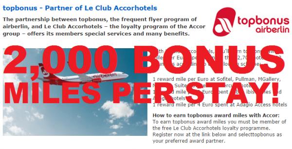 Le Club Accorhotels Airberlin Topbonus 2,000 Miles Fall 2014 Text