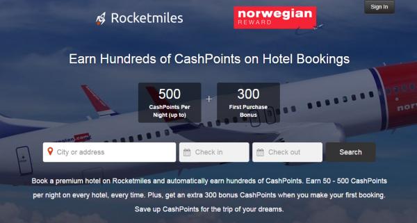 Rocketmiles Norwegian Reward