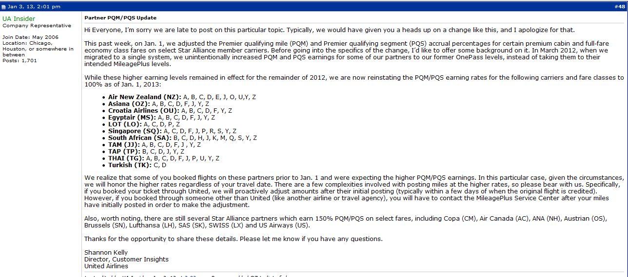 UA Insider PQM Reply