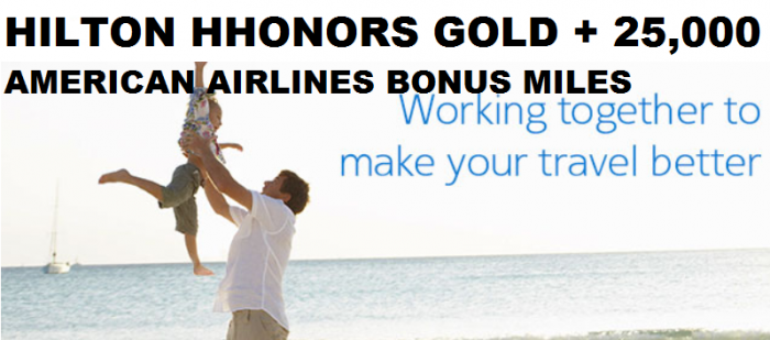 American Airlines Executive Platinum Hilton HHonors Gold Offer Fall 2014