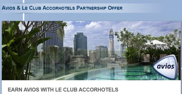 Le Club Accorhotels Avios 2500 Bonus Offer Fall 2014
