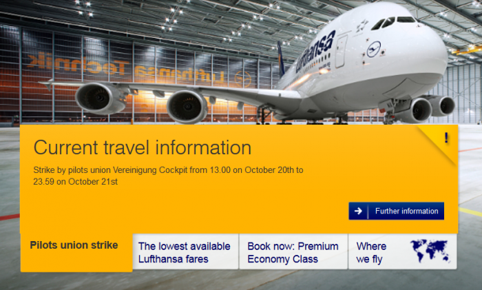 Lufthansa Strike October 20 & 21 2014