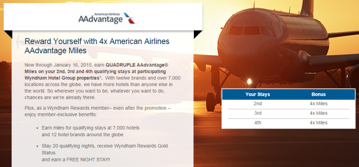 Wyndham Rewards AeroMexico Alaska American United Triple Quadruple Bonus Miles Offer