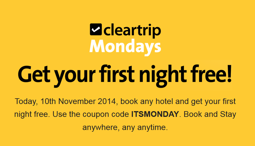 Cleartrip discount coupons