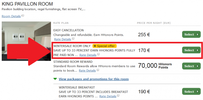 Hilton Europe, Middle East & Africa Weekends Winter Sale For Stays November 21, 2014 – December 28, 2015 (Book November 18 – January 31, 2015) Waldorf Astoria Trianon Palace Versailles WA