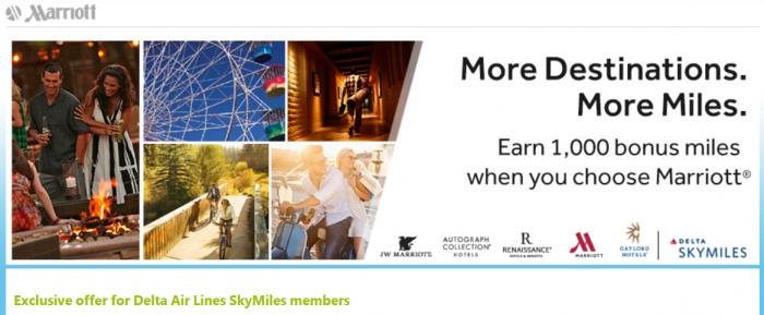Marriott Rewards Delta Air Lines SkyMiles Bonus Offer November 10 January 31 2015