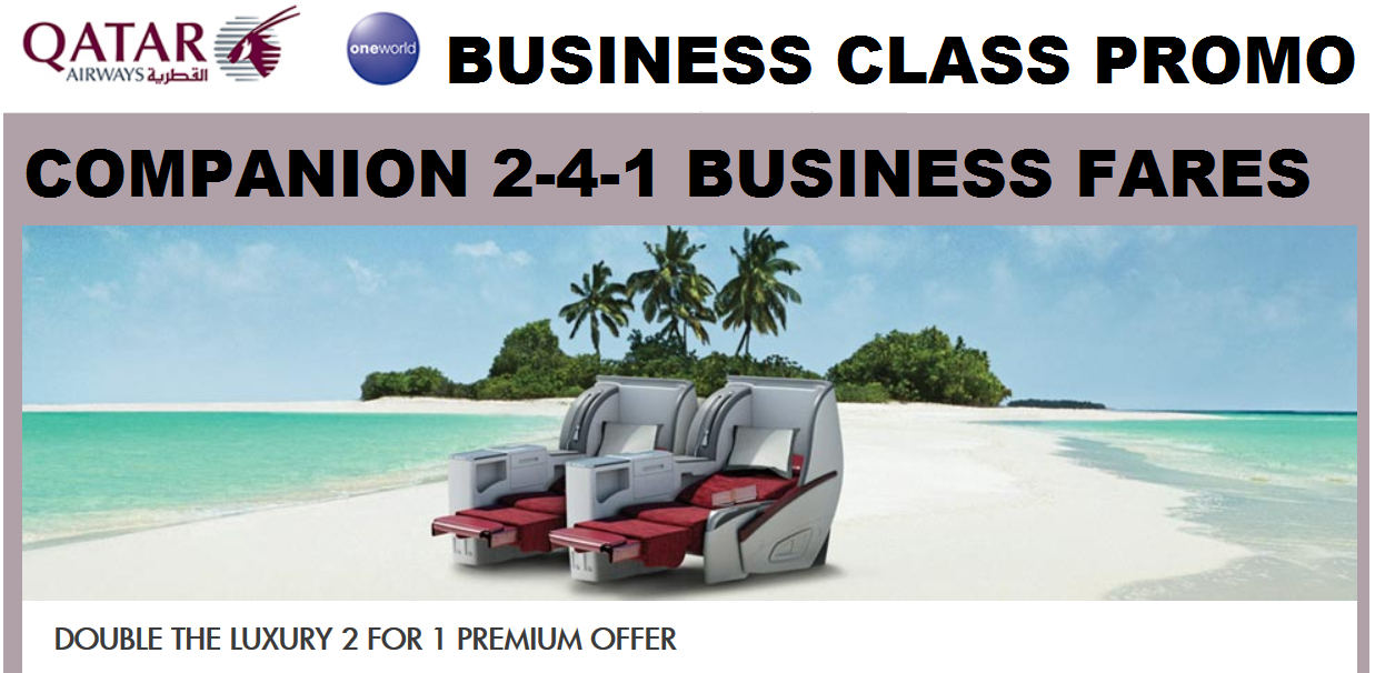 qatar business class promotion
