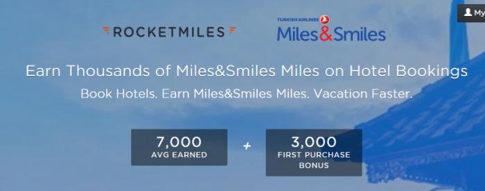 Rocketmiles Turkish Airways Smiles&Miles Offer