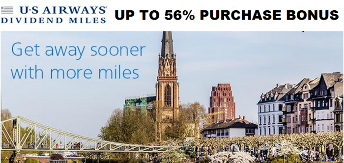 US Airways Dividend Buy & Gift Dividend Miles Up To 56 Percent Bonus November 2014