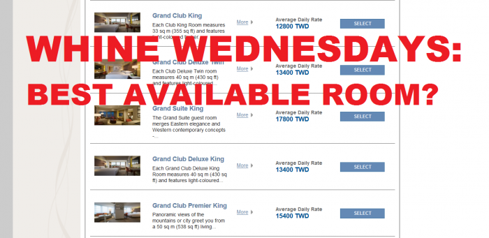 Whine Wednesdays Best Available Room