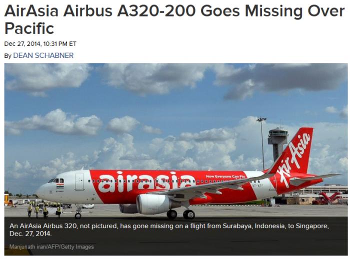 AirAsia QZ8501 Surabaya Singapore