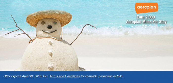 Best Western Air Canada Aeroplan 2,000 Miles Offer January 1 - April 30 2015
