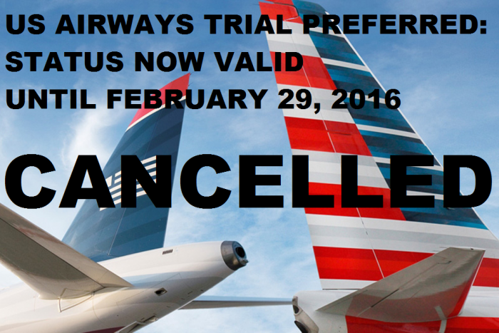CANCELLED US Airways Trial Preferred