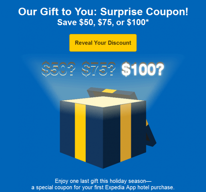 Expedia Mobile $50 $75 $100 Coupon