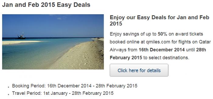 Qatar Airways January February 2015 Easy Deals