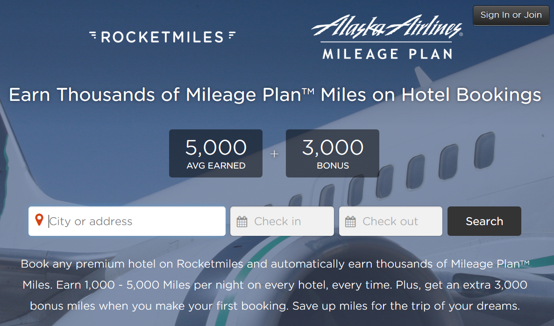 Rocketmiles Alaska Airlines 3 000 Bonus Mileage Plan Miles