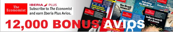 The Economist Iberia Plus 12,000 Avios Offer