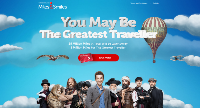 Turkish Airlines Miles&Smiles 25000000 Miles Giveaway