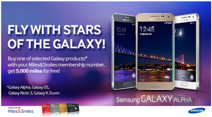 Turkish Airlines Miles&Smiles Samsung Galaxy Offer December 2014