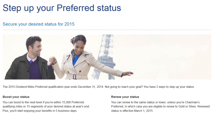US Airways Dividend Miles Step Up Your Preferred Status