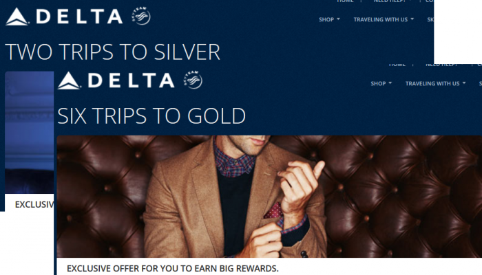 Delta Air Lines Silver & Gold Fast Track Offers