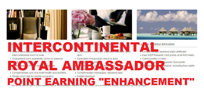 IHG Rewards Club Royal Ambassador InterContinental Points Earning Enhancement