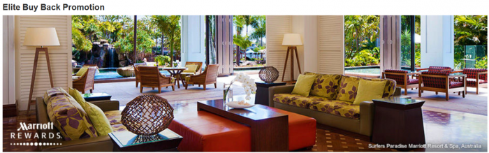 Marriott Elite Buy Back Promotion 2015