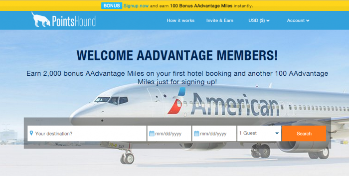 PointsHound American Airlines AAdvantage JetBlue TrueBlue